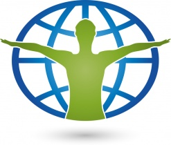 Mensch und Erdball, Person, Weltkugel, Logo (© Elena Hölzer / Fotolia.com)