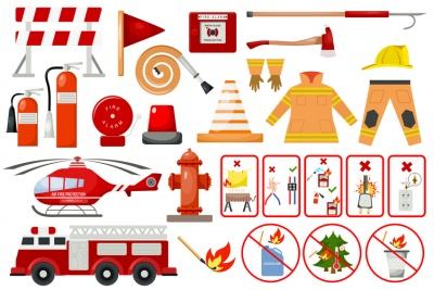 Firefighter Elements (© Vectorwonderland / Fotolia.com)