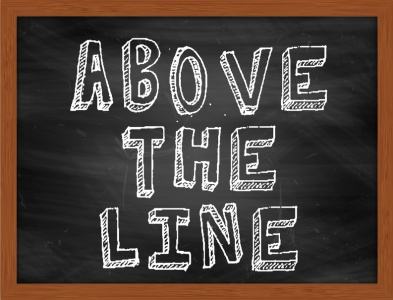 """Above the line"" blackboard (© Ionut / Fotolia.com)"
