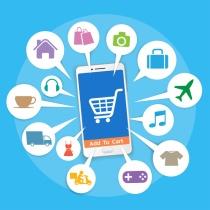 Smartphone with basket online shop (© keangs / Fotolia.com)