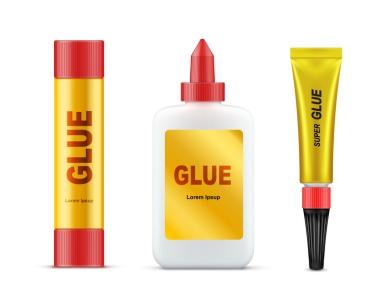 Different glue tubes (© Vectorpocket / Fotolia.com)